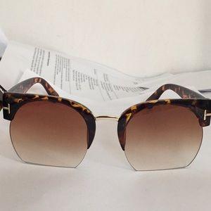 Gradient shades brown tortoise sunglasses